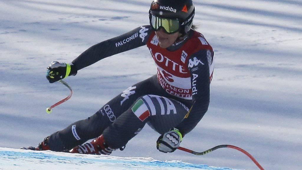 Sofia Goggia gewann in Jeongseon auch den Super-G