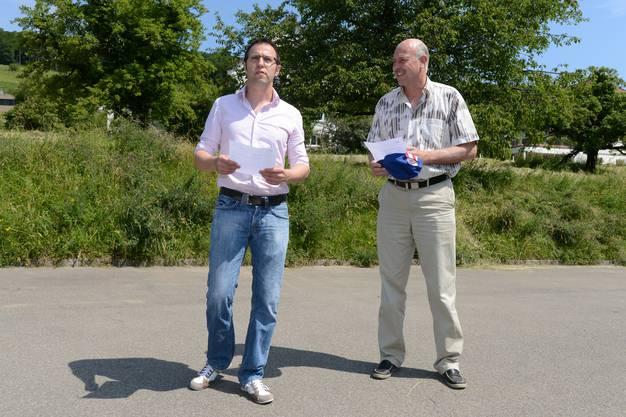 Die Gemeindeschreiber Patrik Amrein l und Hansruedi Gysi r