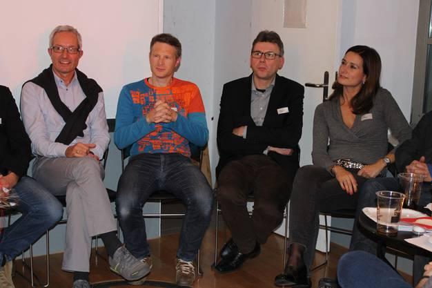 Grossrat Martin Steinacher (CVP), Nationalrat Jonas Fricker (Grüne), Grossrat Dieter Egli (SP), Grossrätin Maja Riniker (FDP).