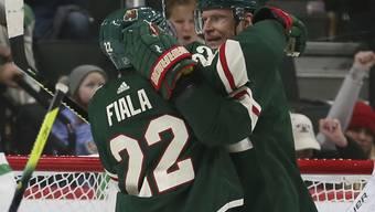 Kevin Fiala (links) und Mikko Koivu - zwei Matchwinner von Minnesota Wild gegen die Dallas Stars