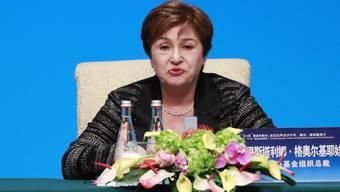 Die IWF-Chefin Kristalina Georgieva ruft die Finanzbranche dazu auf, Finanzkrisen vorzubeugen. (Archivbild)