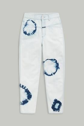 Auch vor Jeans macht Batik keinen Halt. Diese hier ist von Closed (269 Fr., closed.com ).