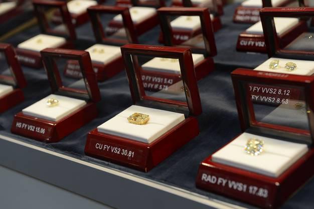 Aus 60 verschiedenen Ländern sind die Diamantenaussteller nach Basel gereist.
