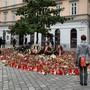 Gedenken in der Wiener Innenstadt, nachdem ein Terrorist vier Menschen tötete.