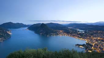 Blick auf Lugano, die Tessiner Finanzmetropole.