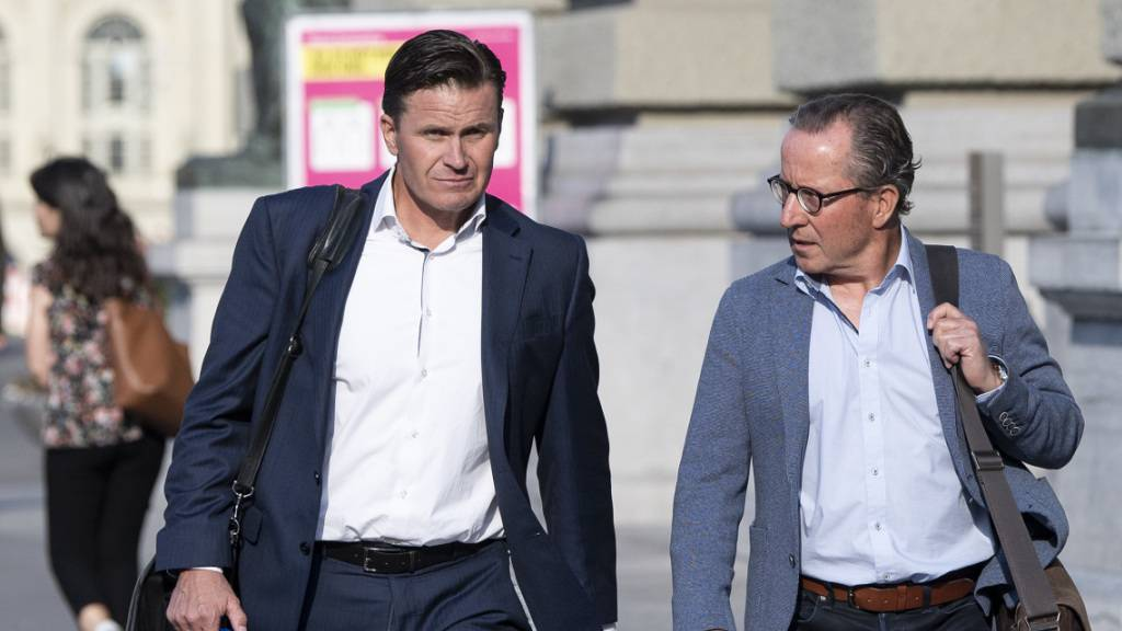 Urs Lehmann, Präsident von Swiss-Ski (links), und Urs Näpflin, OK-Präsident in Wengen, haben ihren Zwist beigelegt