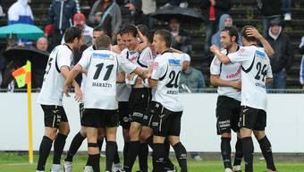 FCA-Captain Sandro Burki traf gegen Winterhur zum 1:0 Schlussergebnis