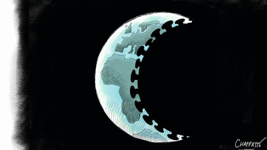 «Corona-Finsternis» heisst die Karikatur des Jahres 2020. Ersonnen hat sie der Genfer Patrick Chappatte und erschienen ist sie im «Spiegel».