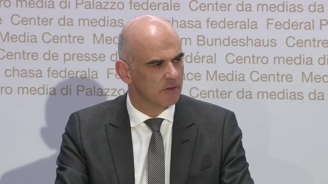 """Alain Berset: """"Stagnation auf diesem hohen Niveau ist eine neue Situation"""""""