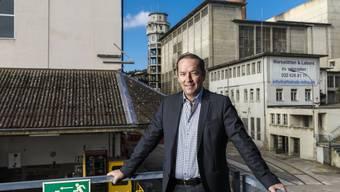 Markus Mettler, Geschäftsführer der Immobiliengesellschaft Halter AG, auf dem Areal Attisholz Nord.