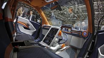 Der Rinspeed Budii Konzept-Car ist ein selbstfahrendes Auto.