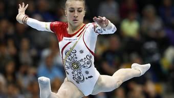 Die Tessinerin Ilaria Käslin belegt am Mehrkampf-Weltcup der Kunstturner in London Platz 6