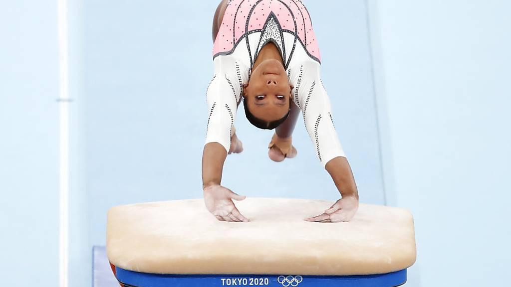 Rebeca Andrade holte als erste brasilianische Kunstturnerin eine olympische Goldmedaille
