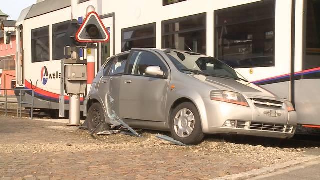 Die Unfallstelle in Hirschthal.