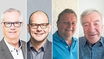Die vier Kandidaten für Spreitenbach im Direktvergleich.