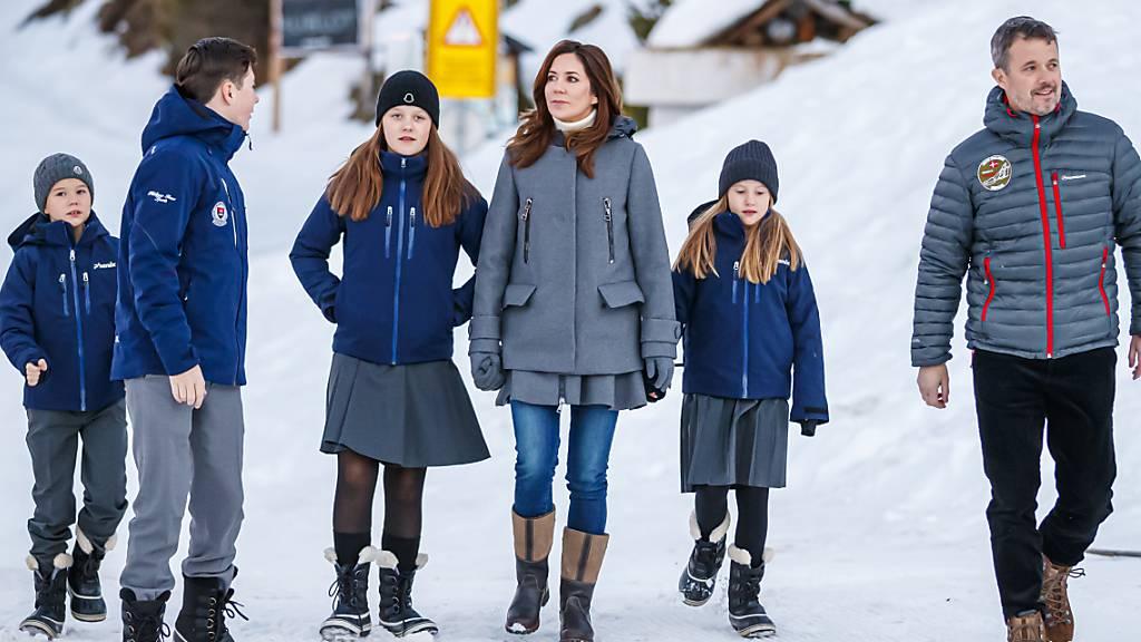Erster Schultag für dänische Kronprinzkinder in Verbier VS