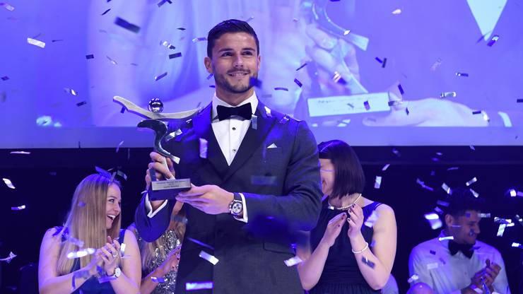 Fussballer Loris Benito wurde Anfang Jahr an der Sport-Gala in Untersiggenthal als Aargauer Sportler des Jahres 2019 ausgezeichnet.