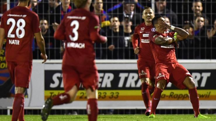 Im Siegestaumel: Aufsteiger Rapperswil-Jona gewann in der Challenge League zum dritten Mal in Folge. (Archivbild)