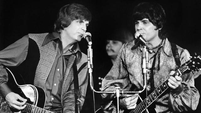 Phil Everly (l.) mit Bruder Don in Las Vegas im Jahr 1970