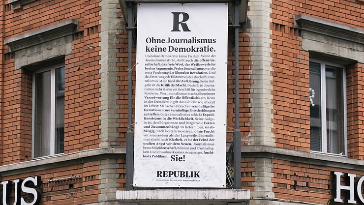 """Das Onlinemagazin """"Republik"""" kämpft ums Überleben. (Archivbild)"""