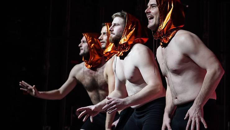 """Das Stück """"Don Juan. Erschöpfte Männer"""" von Julia Haenni hatte am 12. Februar 2020 im Theater Tuchlaube in Aarau die Uraufführung."""