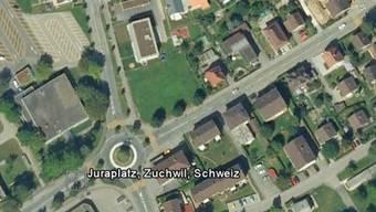 Der Vorfall ereignete sich beim Kreisel am Juraplatz in Zuchwil