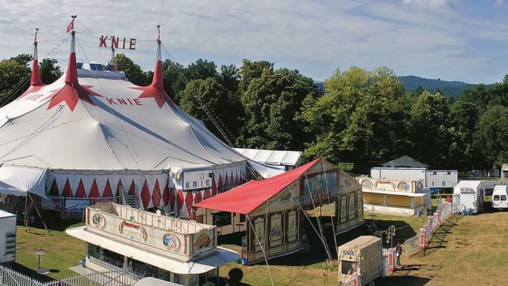 «Kommt der Circus Knie nie mehr auf den Zofinger Heitern?» Foto aus dem Buch «Zofingen 2008»