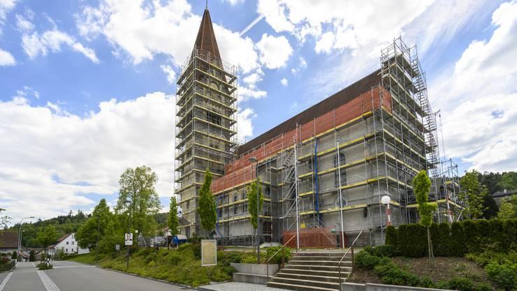 Die römisch-katholische Kirche in Wohlenschwil wird bis Spätherbst einer umfassenden Sanierung unterzogen.