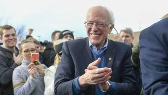 Favorit in Iowa: Bernie Sanders, 78, liegt in Umfragen in dem Bundesstaat vorn.