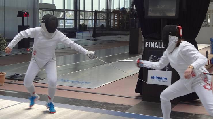 Gianna Hablützel-Bürki im Final gegen Natalia Chalon.