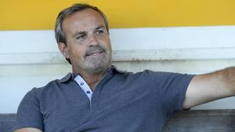 Wir dürfen gespannt sein, ob Martin Rueda im Spiel gegen den FC Aarau auch noch so entspannt wirkt.