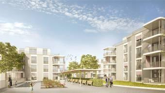 Aktuelle Visualisierung des überarbeiteten Projekts Sunnepark, wie es den Anwohnern präsentiert wurde.