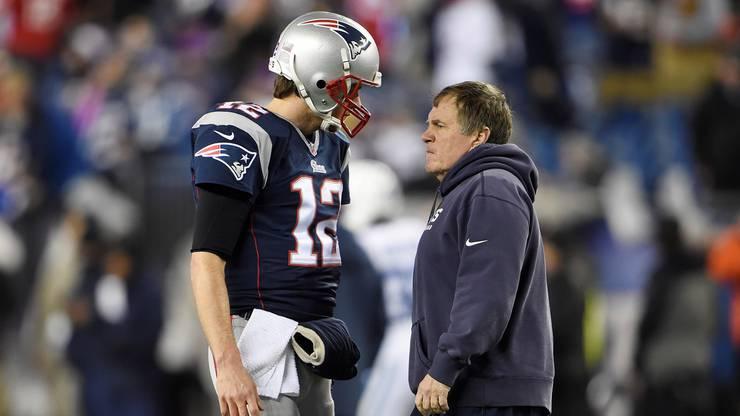 Laut Dwaine Wood die zwei schlausten Typen der NFL: Quaterback Tom Brady und Coach Bill Belichick von den New England Patriots.