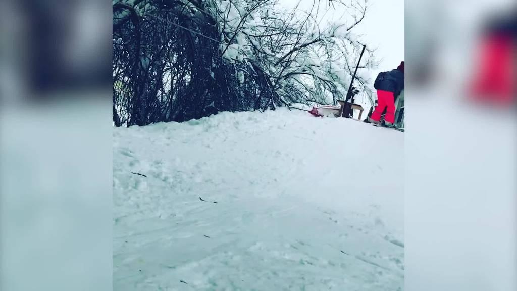 Nähmaschine als Skilift: Vorarlbergs kleinsten Skigebiet