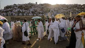 Bittgebete an Gott: Pilger auf dem Weg zum Berg Arafat in der Nähe von Mekka.