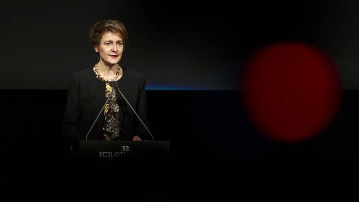 Bundesrätin Simonetta Sommaruga hielt zur Eröffnung der 52. Solothurner Filmtage eine Ansprache.