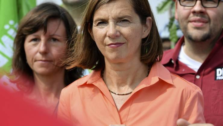 """Die grüne Fraktionscheffin Katrin Göring-Eckardt will auch in Berlin an die Macht - und warnt vor weiteren vier Jahren des """"Aussitzens und Stillstands""""."""