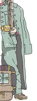 Im Ersten Weltkrieg wurden die farbigen Uniformen auf feldgrau (also eher grün) umgestellt. Sie wurden aus recht grobem Wollstoff geschneidert (das waren die tannigi Hose, von denen das bekannte Volkslied sprach) und juckten manchmal entsetzlich. Ab 1972 gab es dann die grossen Ausgangshosen «aus besserem Stoff».