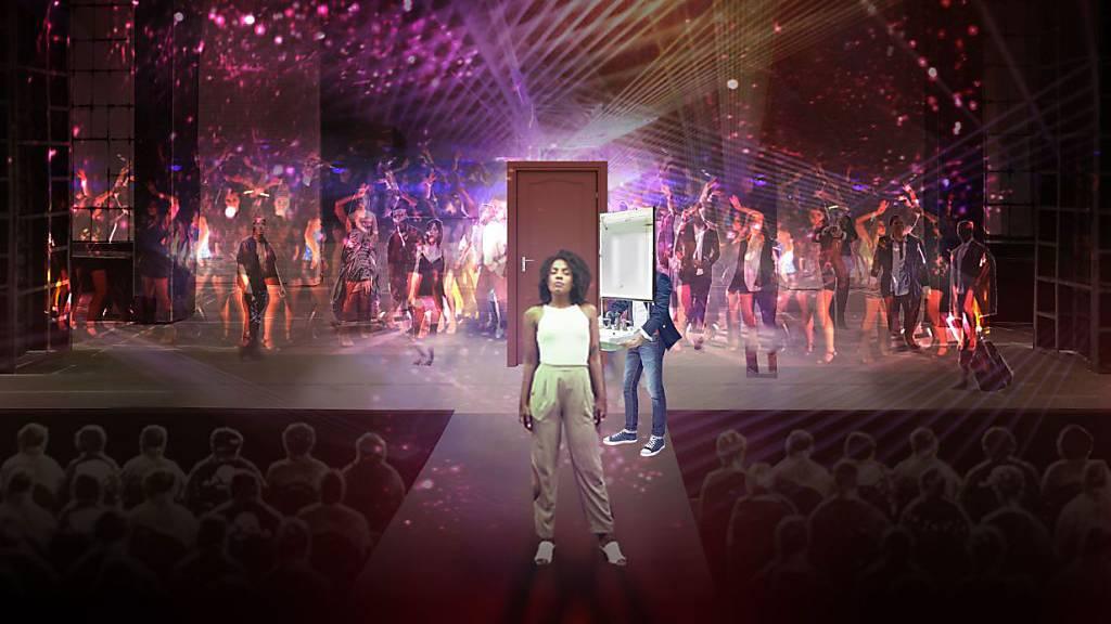 Bühnenbild des Musicals «Wüstenblume», das am 22. Februar 2020 am Theater St. Gallen uraufgeführt wird.