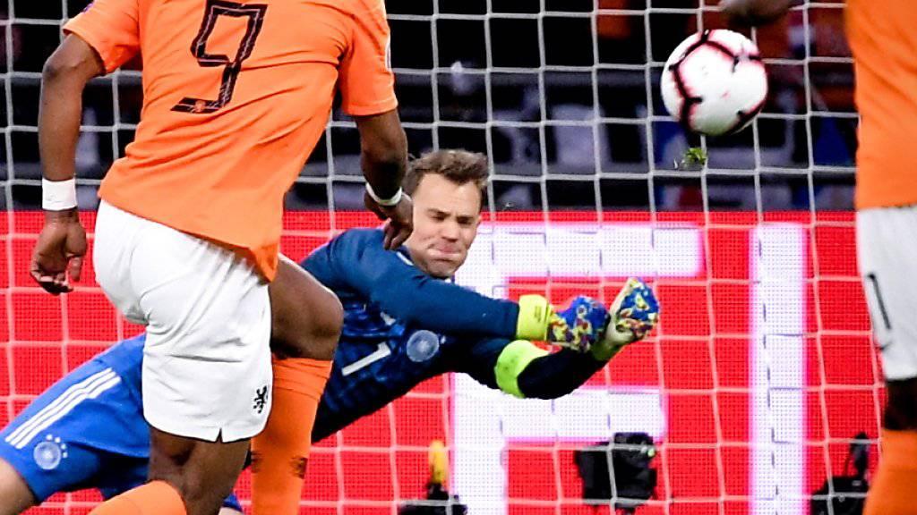 Zeigt beim 3:2-Sieg gegen die Niederlande eine starke Leistung: Deutschlands Stammgoalie Manuel Neuer