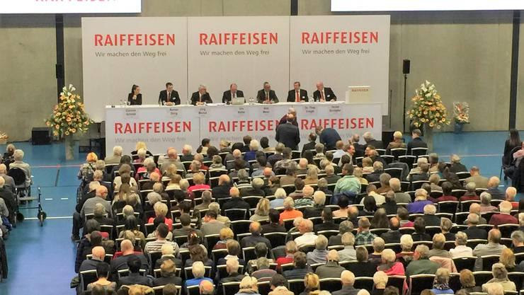 Die Raiffeisen-GV fand zum zweiten Mal im GoEasy statt.