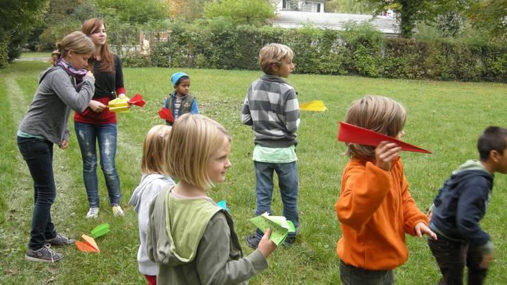 Die Kinder hatten auf dem Quartierspielplatz ihren Spass