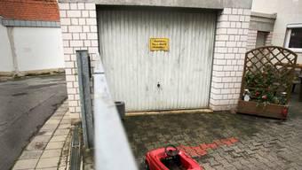 n dieser Garage in Schwalbach wurde 2014 die zerstückelte Leiche einer Prostituierten gefunden.
