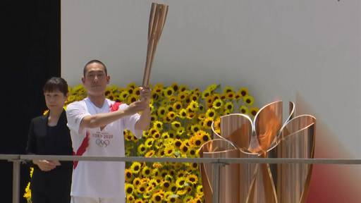 Kurz vor Eröffnungsfeier: Olympischer Fackellauf beendet