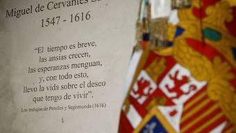 """Fast 400 Jahre nach seinem Tod hat Spaniens """"Nationaldichter"""" Cervantes ein Ehrengrab erhalten"""