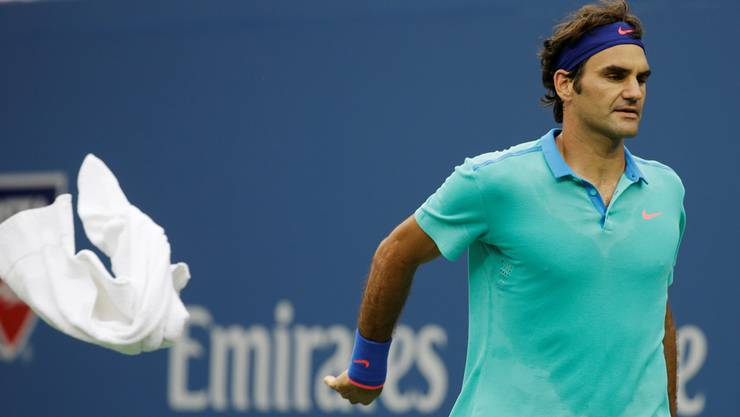 Musste das Handtuch werfen: Roger Federer findet gegen Marin Cilic kein Mittel.