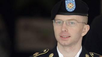 Bradley Manning vor einer Anhörung am 16. August (Archiv)