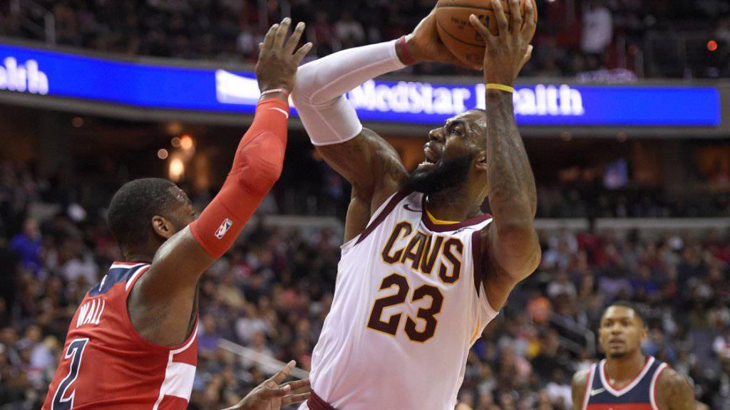 War von Washington nicht aufzuhalten: Clevelands Superstar LeBron James.