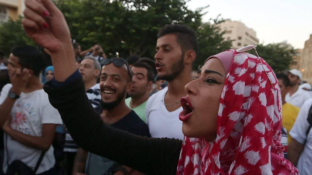 Protest in Beirut: Libanons Regierung sieht sich Kritik ausgesetzt