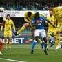 Verteidiger Kalidou Koulibaly leitet Napolis Sieg beim Absteiger Chievo nach einer Viertelstunde per Kopf ein